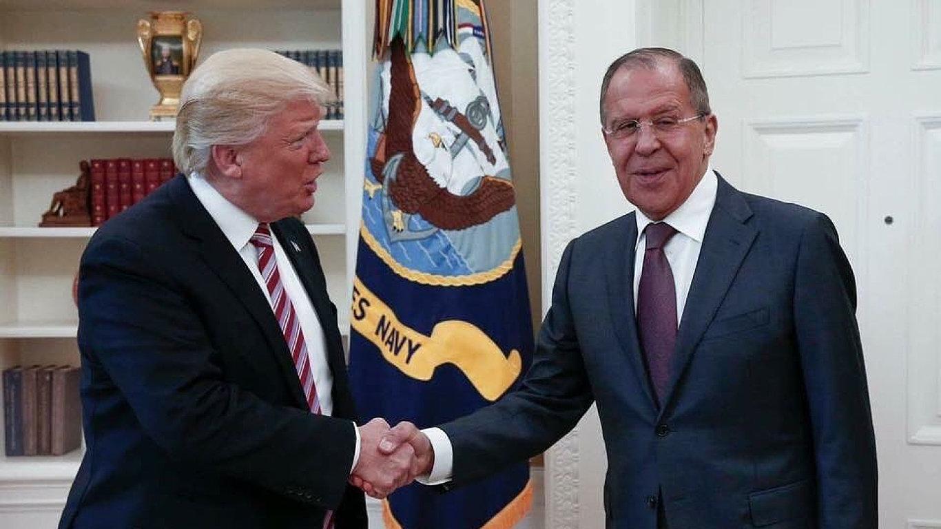 Donald Trump a Sergej Lavrov.