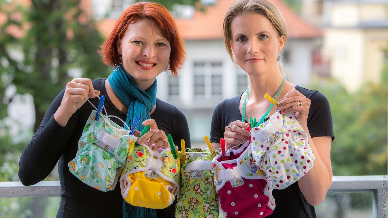 Zakladatelky firmy Bamboolik Zuzana Hloušková a Radka Martínková.