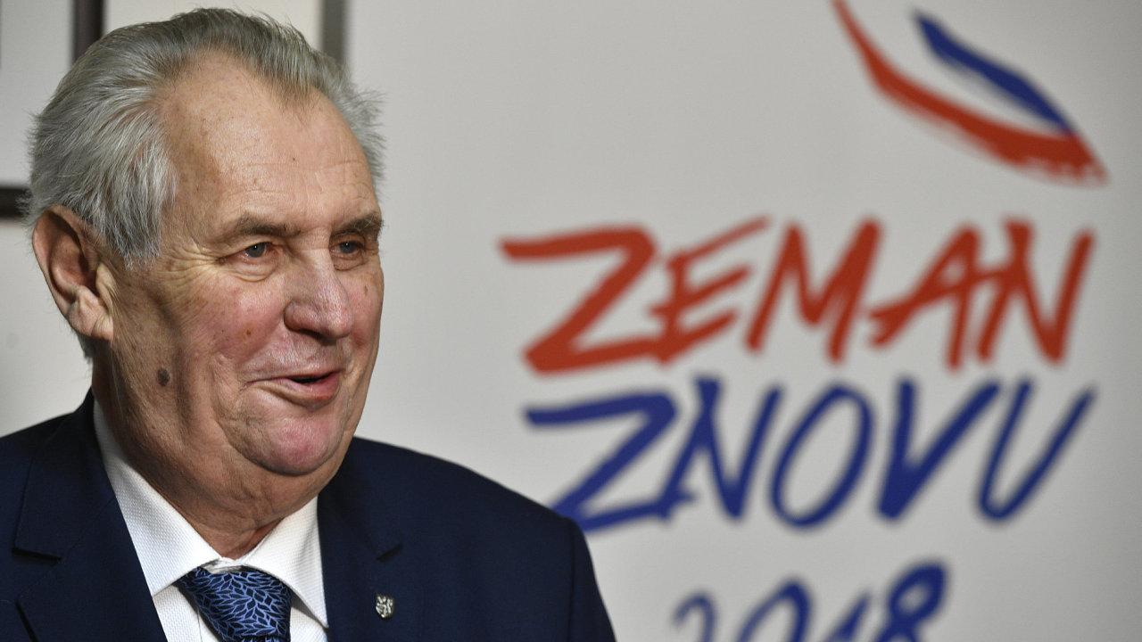 prezidentské volby 2018, Miloš Zeman