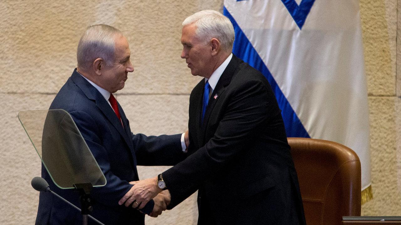 Americký viceprezident Mike Pence v Izraeli.