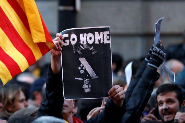 V Barceloně demonstrovali separatisté proti návštěvě krále
