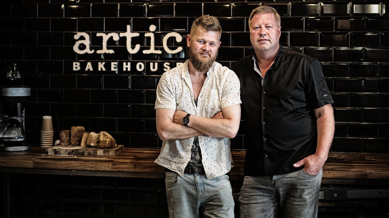 Spolumajitelé Artic Bakehouse Davíđ Arnórsson (vlevo) a Gudbjartur Gudbjartsson