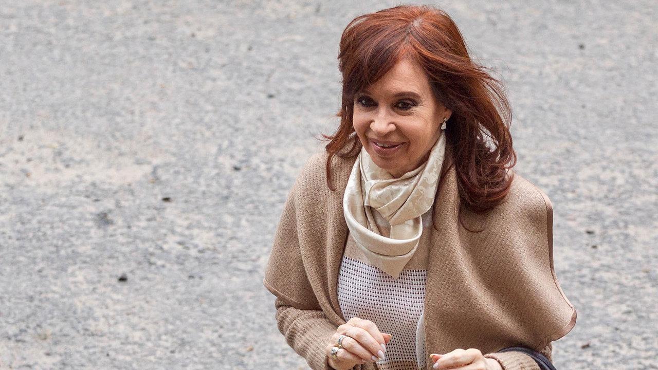 Bývalá argentinská prezidentka Cristina Fernándezová Kirchnerová.