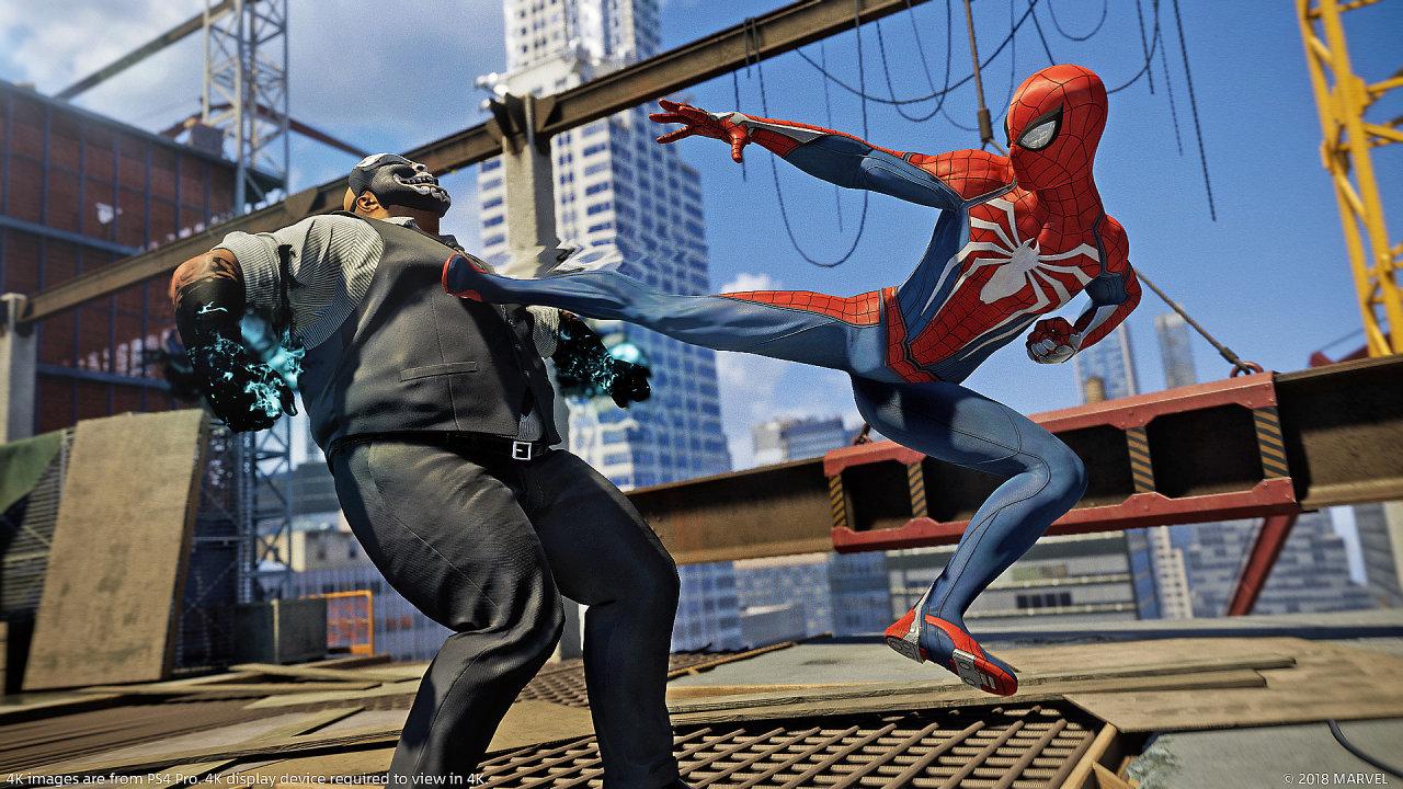 Spider-Man ve videohře dostupné pouze na PlayStation 4