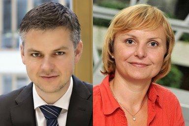 Roman Fink, finanční ředitel ČMSS. Vladimíra Drechslerová, výkonná manažerka Strategie ČSOB