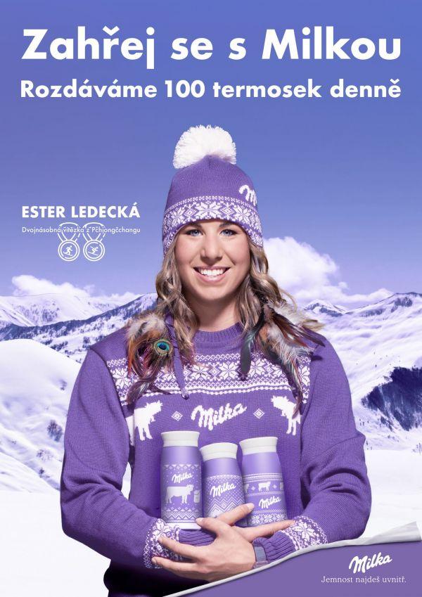 Kampaň Milky s Ester Ledeckou