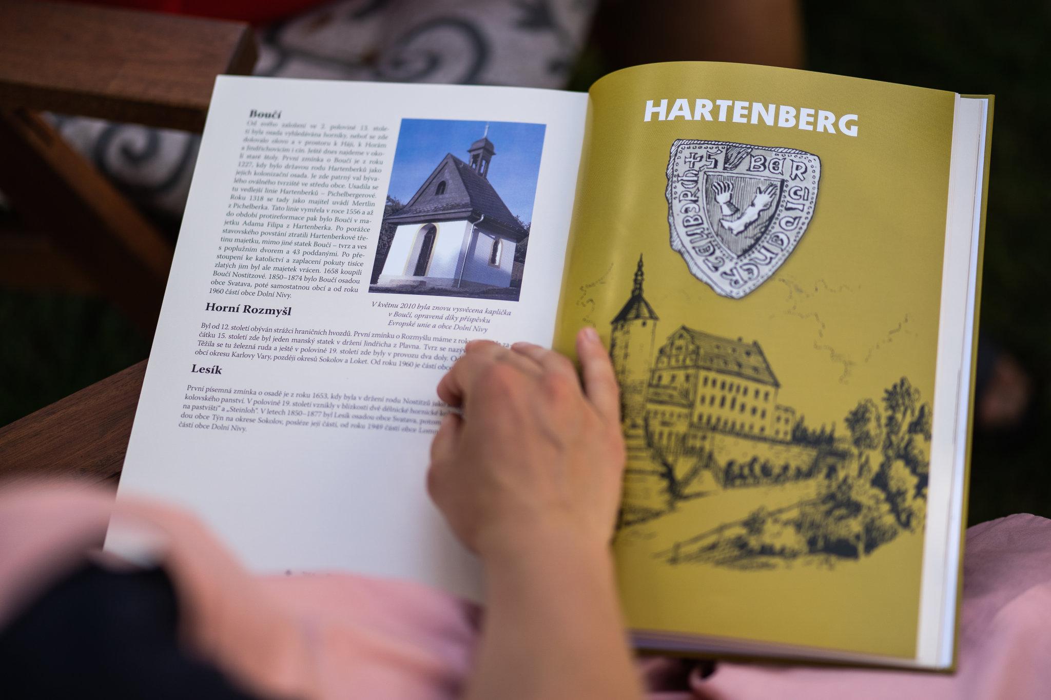 Hrad Hartenberg v jedné z publikací