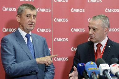 Premiér Andrej Babiš na snímku s Josefem Středulou, předsedou ČMKOS.