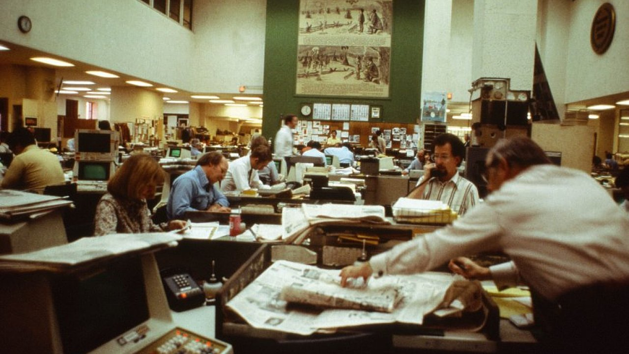 Newsroom The Chicago Tribune, 80. léta.