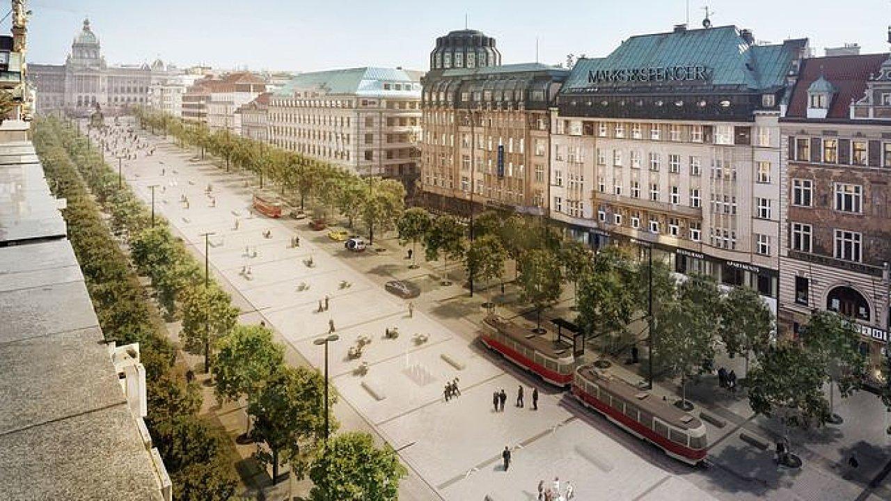 Jak se změní Václavské náměstí pod taktovkou kanceláře Cigler-Marani.