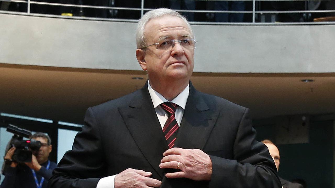 Bývalý šéf německého automobilového koncernu Volkswagen Martin Winterkorn