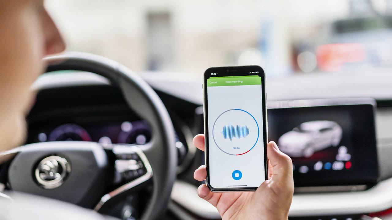 Aplikace Sound Analyser automobilky Škoda Auto pomocí umělé inteligence identifikuje potřebu servisu a údržby vozu.