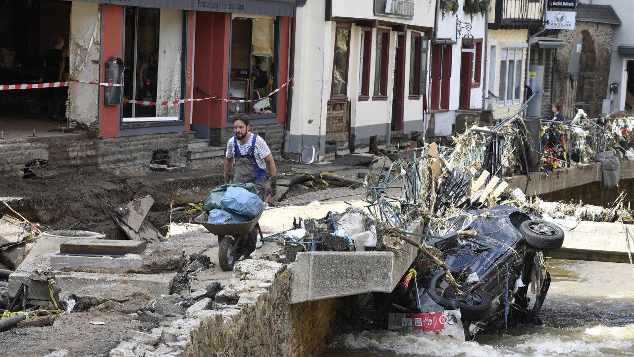 povodně, záplavy, Německo