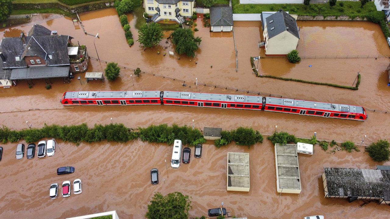 Německo, DEU, záplavy, katastrofa, Kordel