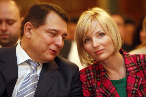Jiří Paroubek s manželkou Petrou na sjezdu strany LEV 21