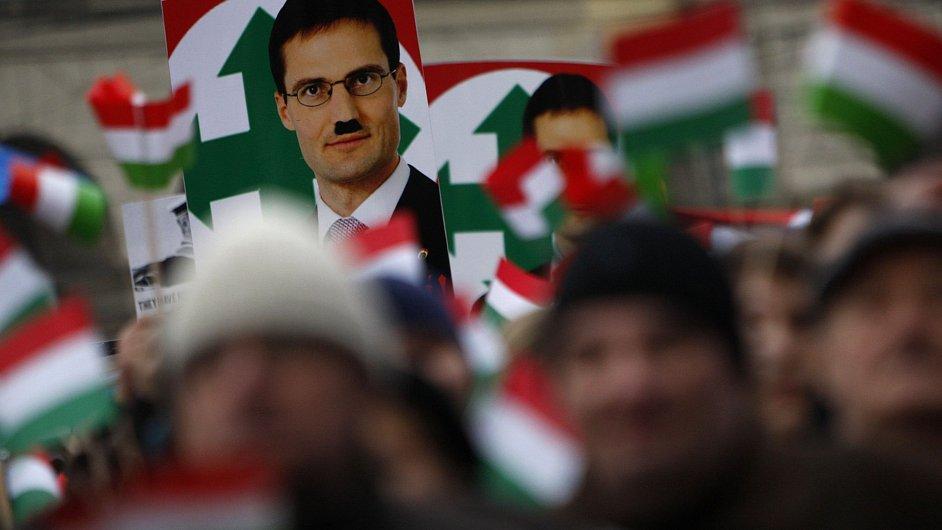 Demonstrace proti Jobbiku