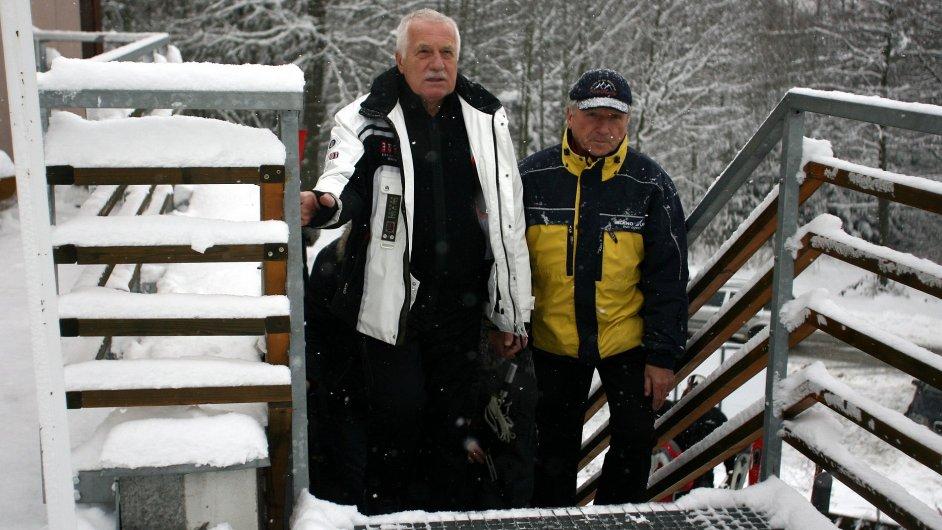 Václav Klaus na horách