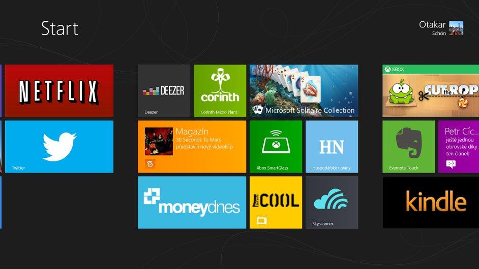 Výběr aplikací pro Windows 8
