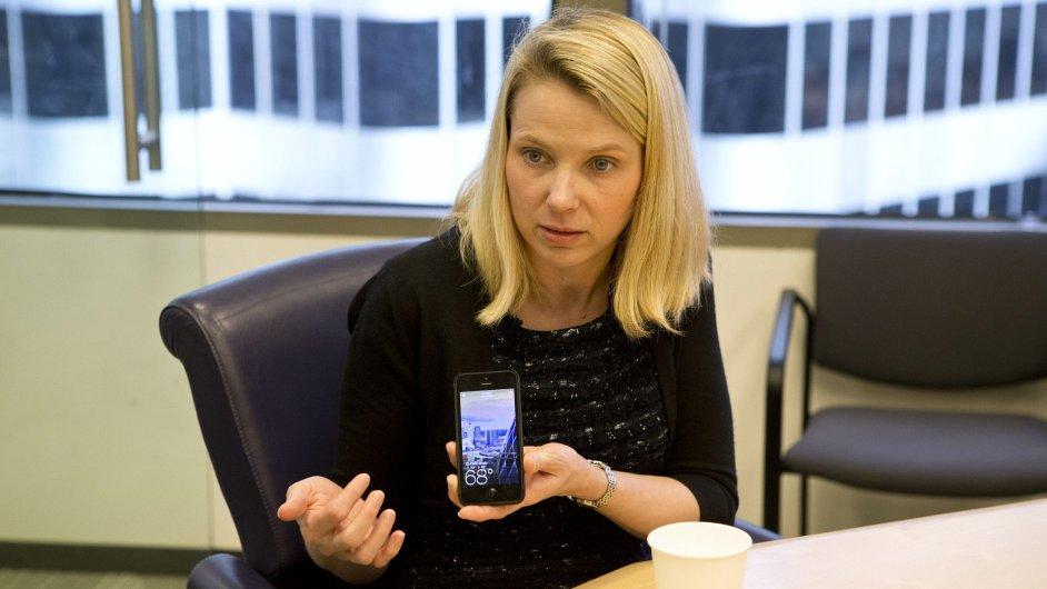 Šéfka Yahoo! Marissa Mayerová.