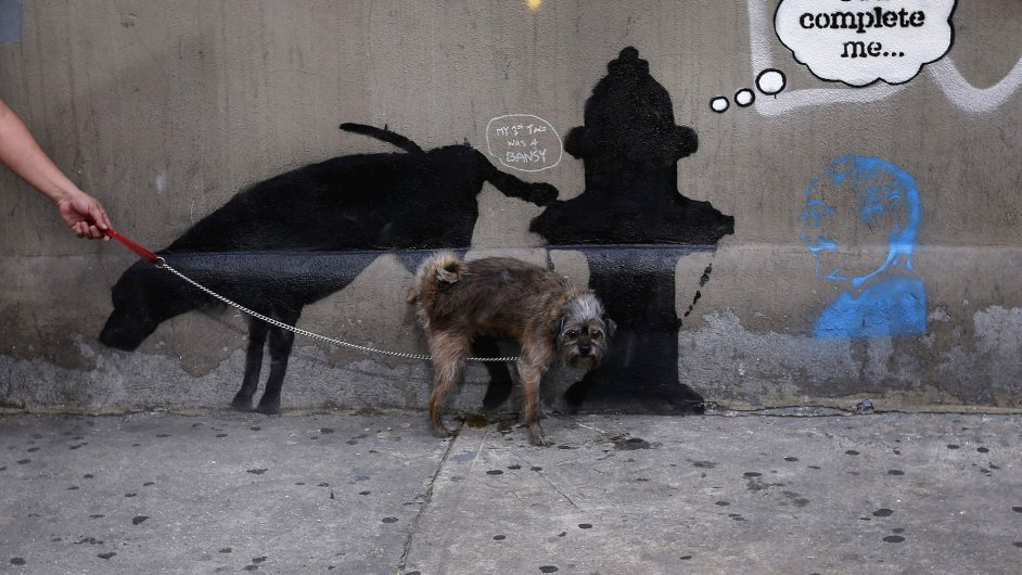 Banksyho graffiti na West 24th street  v New Yorku