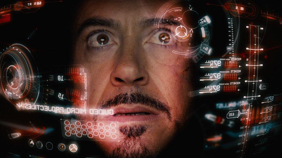 FUI (future user interface) použité ve filmu Iron Man.