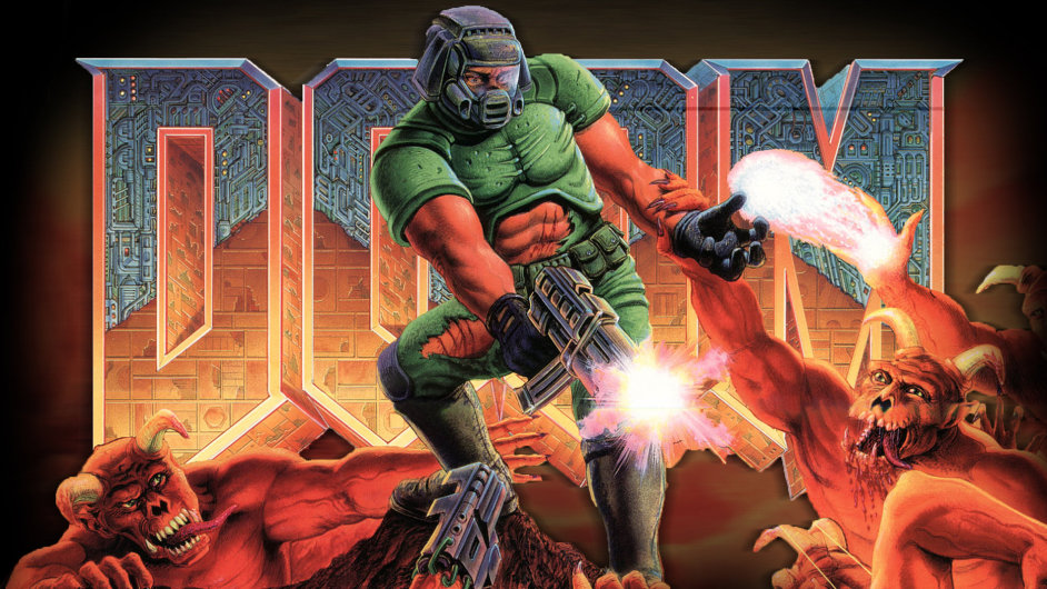 Plakát k videohře Doom, kterou je nově možné pustit i na tiskárnách Canon.