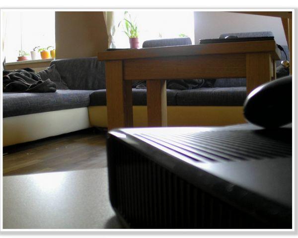 Záběr kamery v obýváku v Krnově
