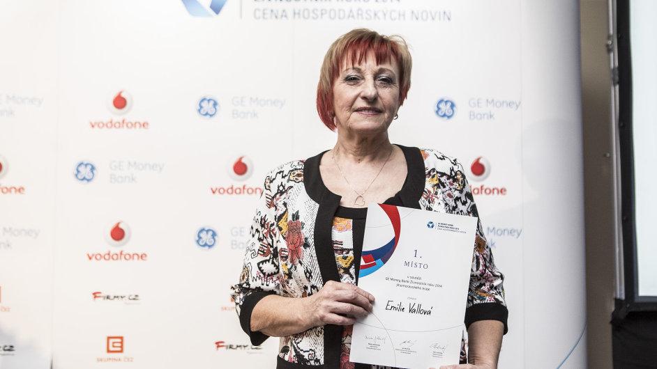 Emilie Vallová se stala Živnostníkem roku 2014.