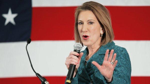 Carly Fiorina(ová) - Zatím jediná žena mezi republikánskými kandidáty a také jediná z byznysu.