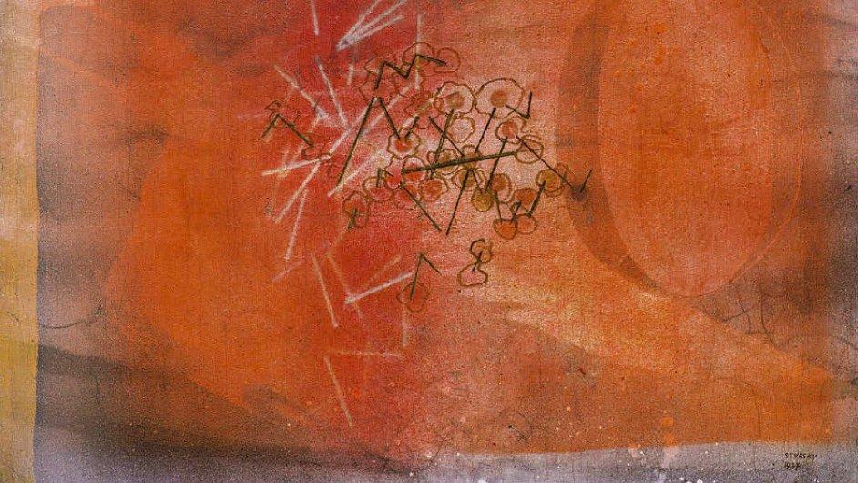 Štyrského obraz Bez názvu (Déšť) se vydražil za 7,8 milionu korun bez provize.