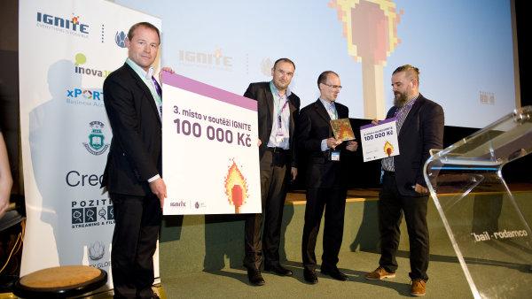 Společnost SentiSquare obsadila třetí místo v soutěži inovativních firem Ignite.