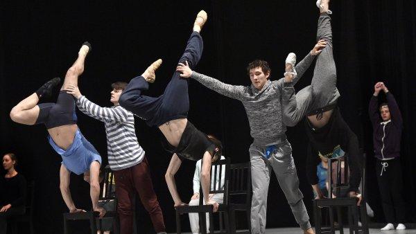 Sn�mek ze zkou�ky choreografie Petite Mort