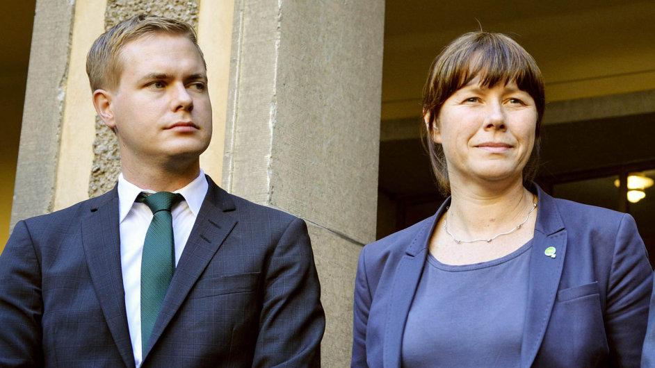 Asa Romsonová a Gustav Fridolin – faktičtí lídři švédských zelených.