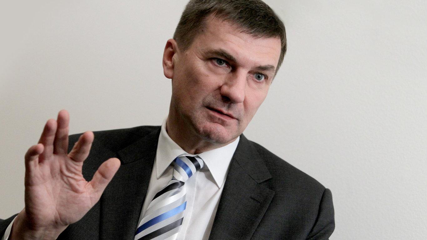 Eurokomisař pro evropský digitální trh Andrus Ansip.