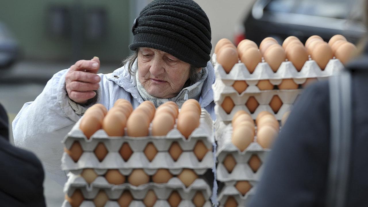 V Česku v posledních týdnech výrazně podražila vejce. Ilustrační foto
