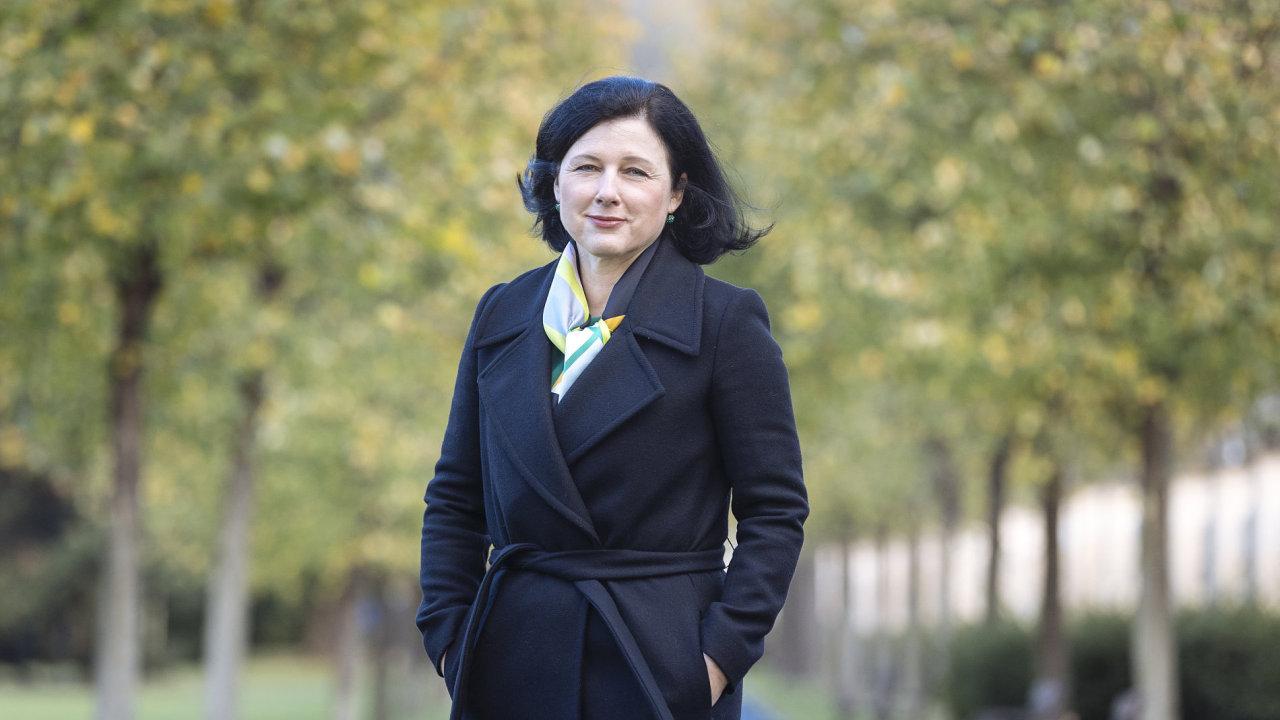 Eurokomisařka Věra Jourová (ANO).