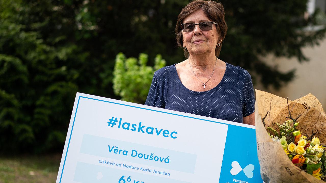 Věra Doušová je další z oceněných titulem Laskavec.
