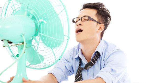 Letní vedro v práci, ilustrace