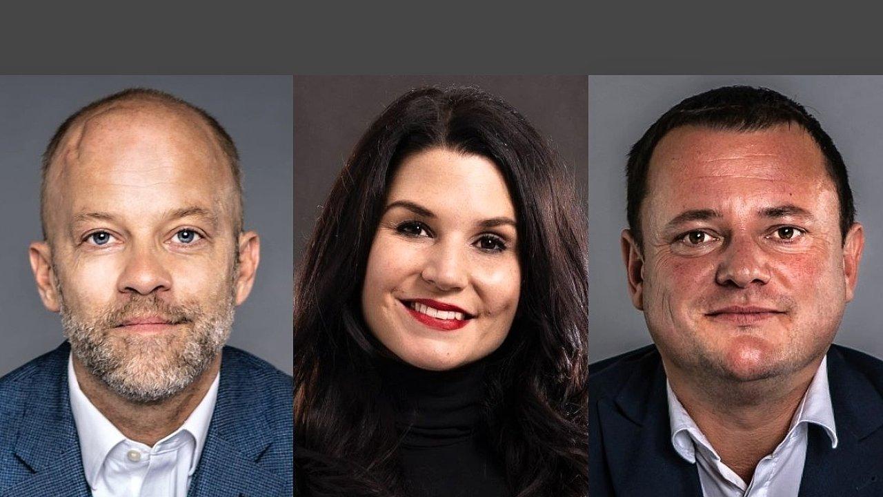 Harry Bannatyne, Lucie Řezníčková a Miroslav Kotek, průmyslové oddělení Colliers International v České republice