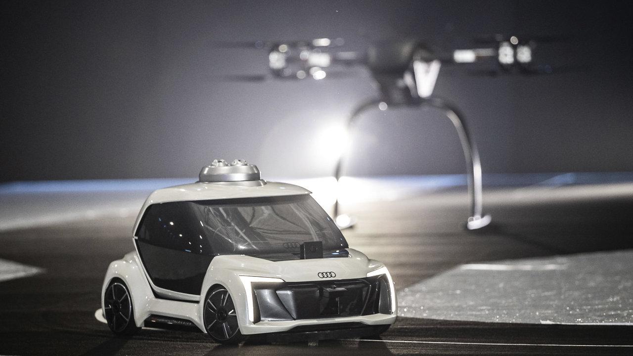 Prototyp létajícího taxi Audi a Airbusu Pop.Up Next