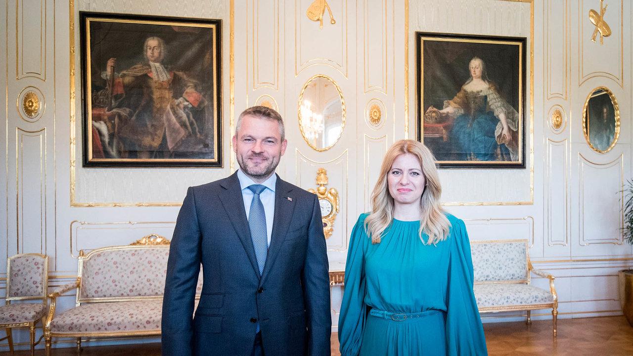 Prezidentka Zuzana Čaputová apremiérPeterPellegrini.