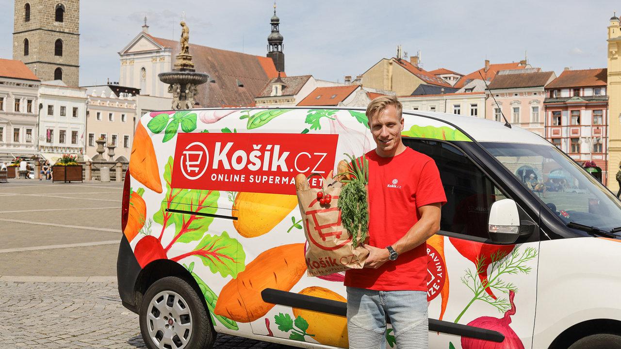Košík v Českých Budějovicích.