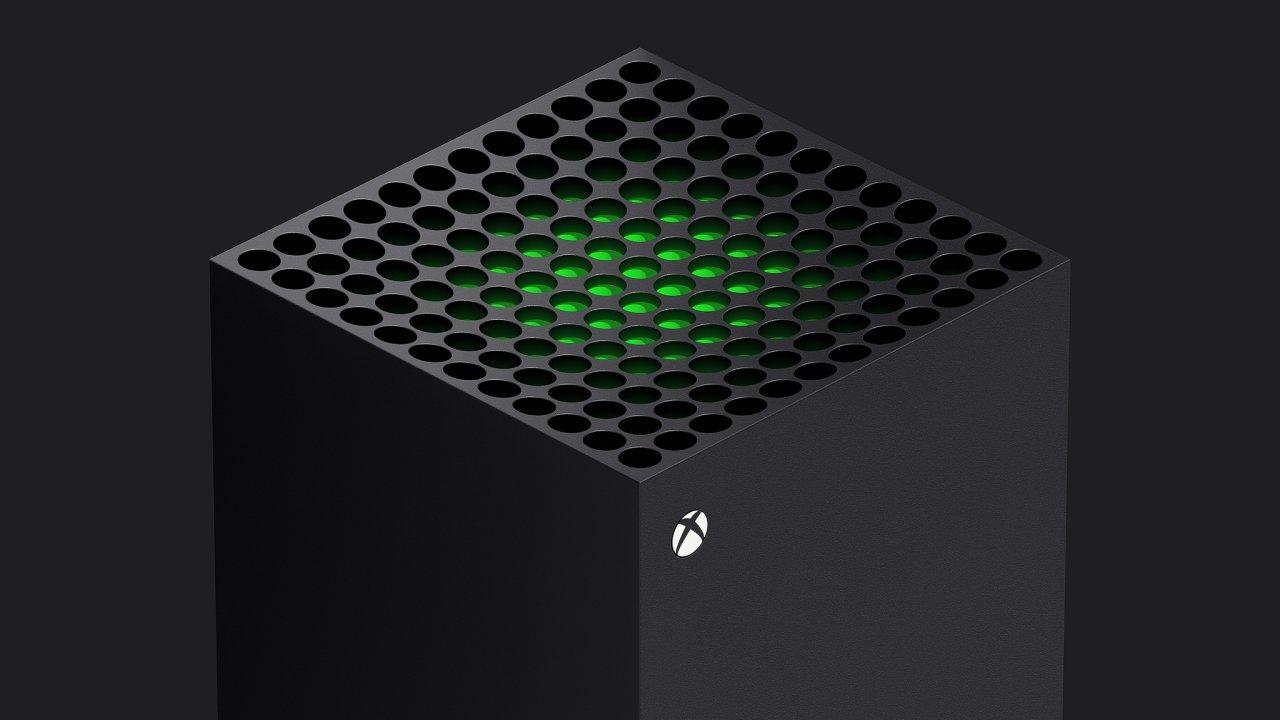 Xbox Series X je černý monolit se zeleným srdcem