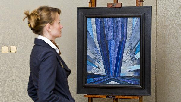 Od dubna chce burza stávající nabídku 551 děl mladých umělců rozšířit o světoznámá jména typu Františka Kupky. Na fotografii je Kupkův obraz - Ilustrační foto.