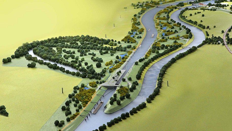 Projekt plavebního kanálu v Přelouči