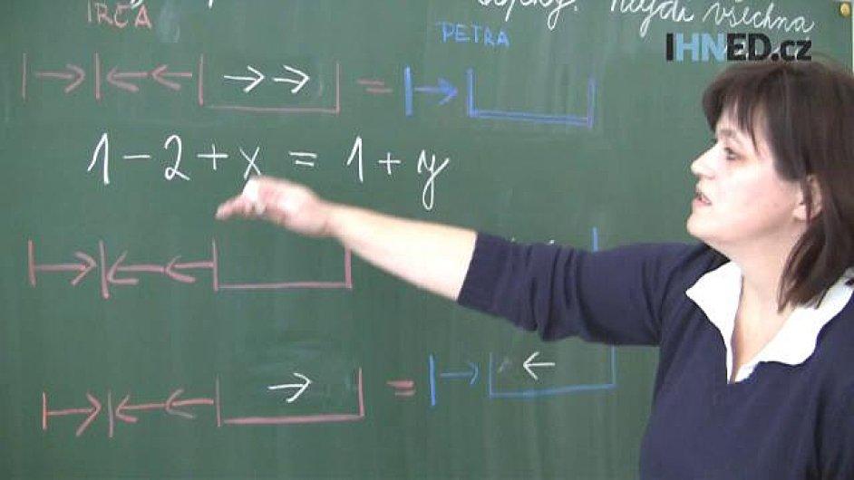 Výuka matematiky, ilustrační foto z videa