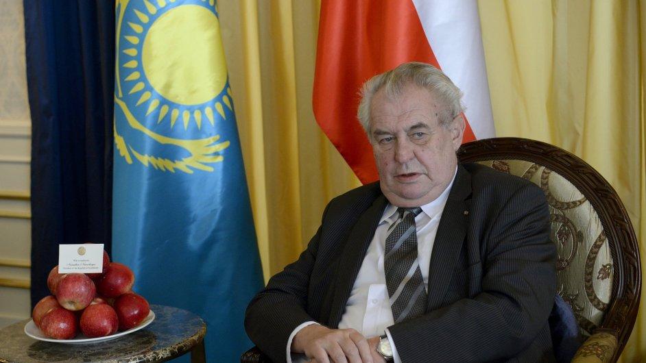 Prezident Miloš Zeman na návštěvě Kazachstánu