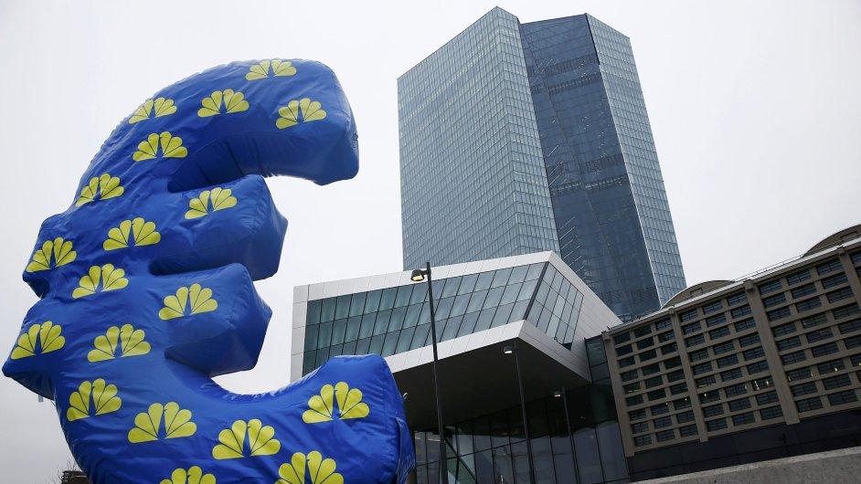 Sídlo Evropské centrální banky ve Frankfurtu