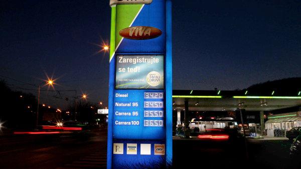 Benzinová pumpa OMV, ilustrační foto