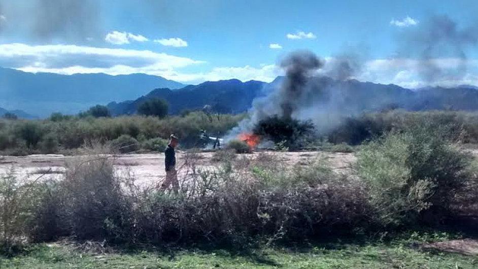 Letecké neštěstí v Argentině při natáčení reality show